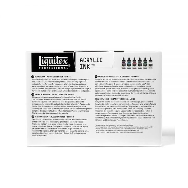 Liquitex Ink Muted Collection Package Retour
